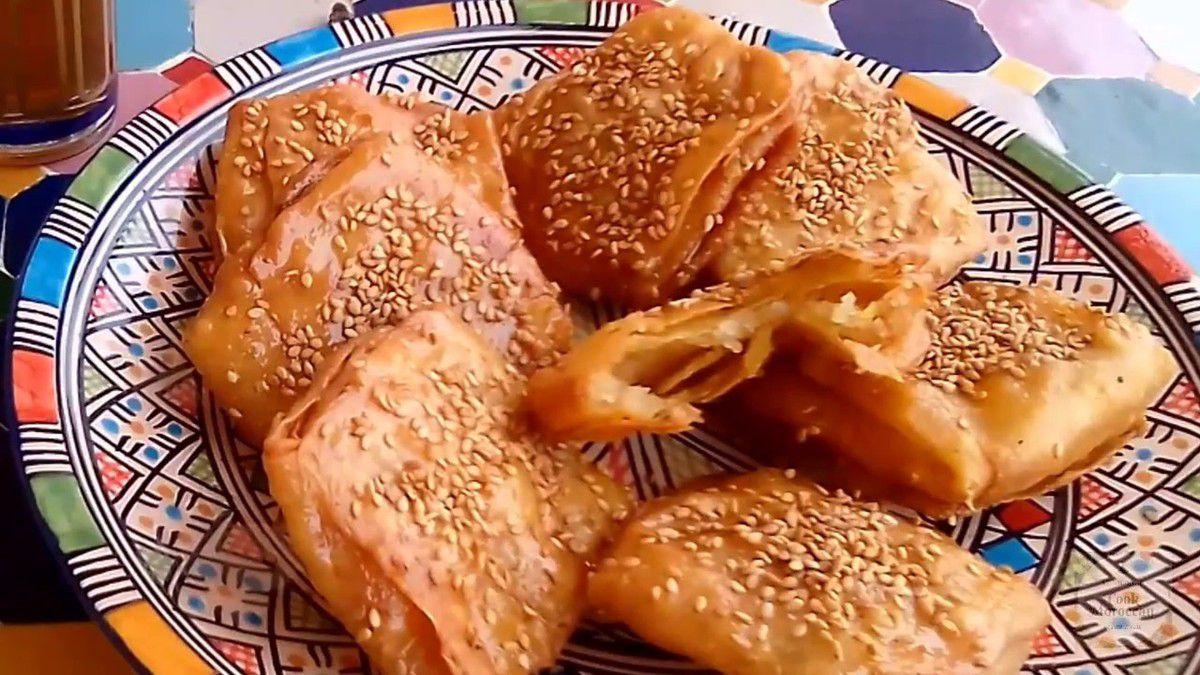 Receta msemen fritos con miel y sésamo