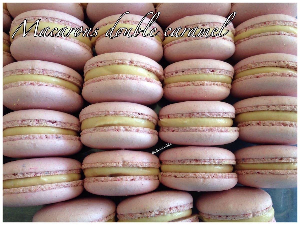 Macarons double caramel