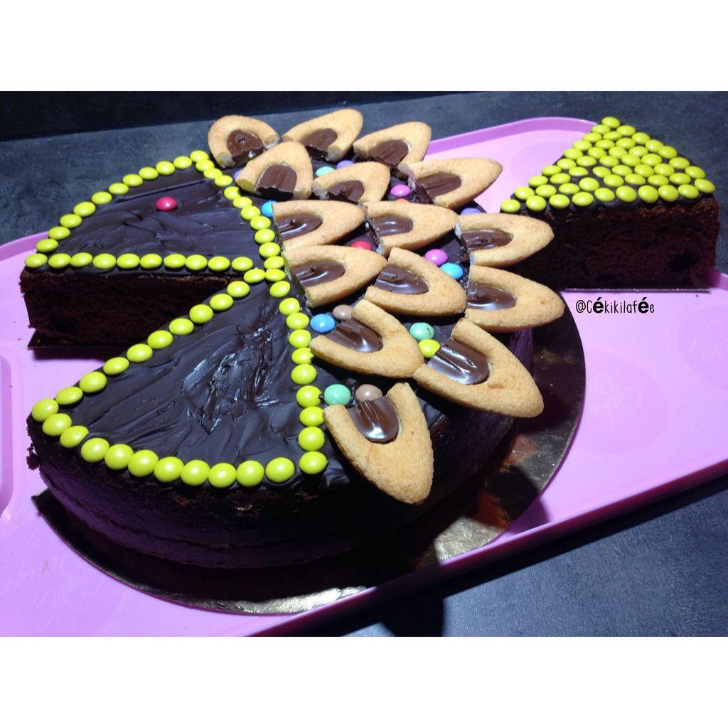 Gâteau chocolat poisson avec smarties