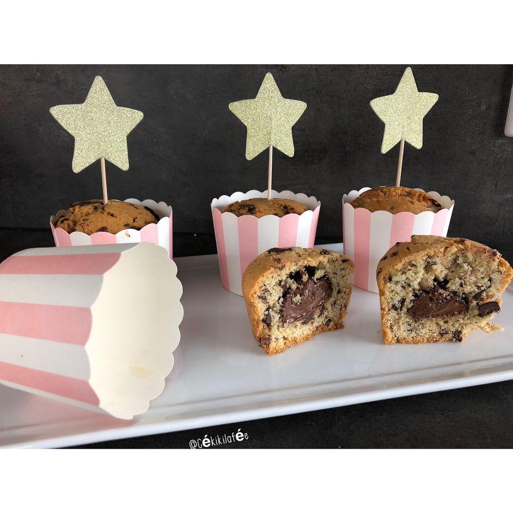Muffins pépites de chocolat cœur nutella