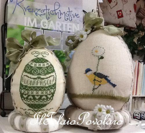 ... E per Pasqua, cosa ricamiamo?? Un uovo o un uccellino??