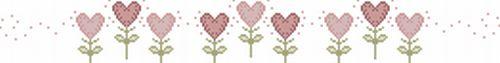 E... #RICAMOtradizionale anche per i cinque cuoricini in rosa,  ... per #bombonire??
