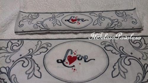 Una coppia di asciugamani che sa di ''amore''