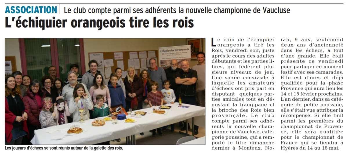 Vaucluse Matin 26/01/2019