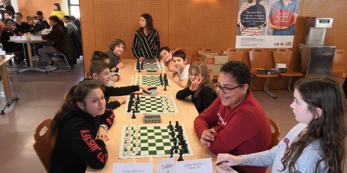 Championnat Scolaires Échecs : le collège Arausio vice-champion de Provence UNSS