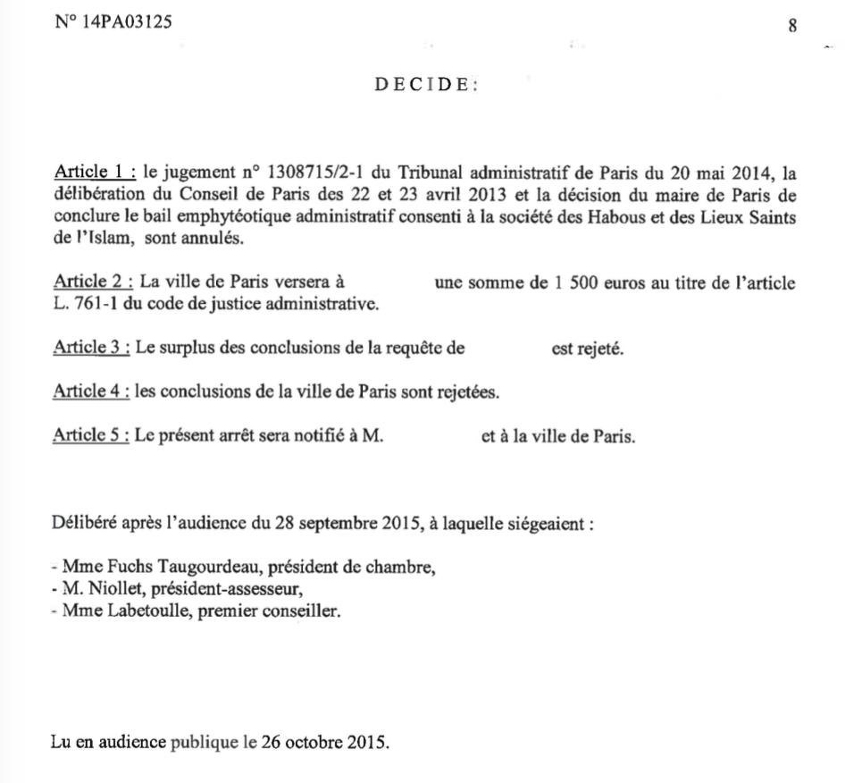 La Mairie de Paris condamnée à dédommager les contribuables parisiens pour ses aides déguisées à l'Institut des Cultures d'Islam : 14 millions plus les réparations!