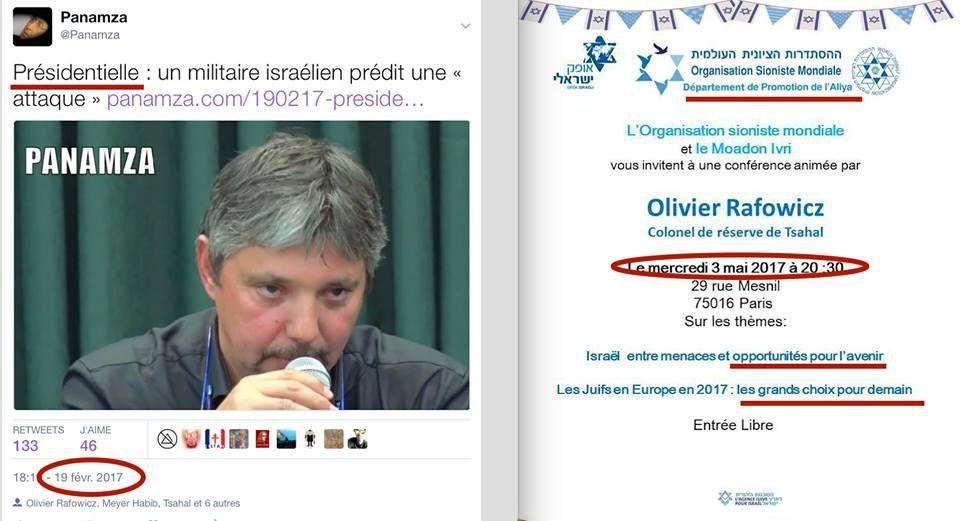 ALERTE : LE MILITAIRE ISRAÉLIEN QUI AVAIT ANNONCÉ UNE « ATTAQUE » DURANT LES ÉLECTIONS EST EN FRANCE.