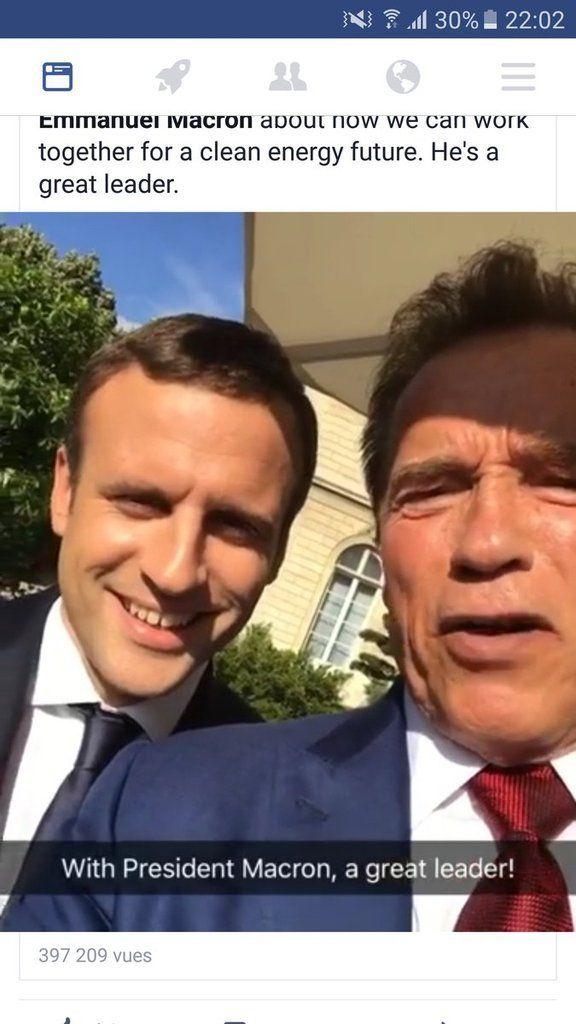 Schwarzenegger débarque à Paris en 4x4 «bien polluant» pour parler écologie
