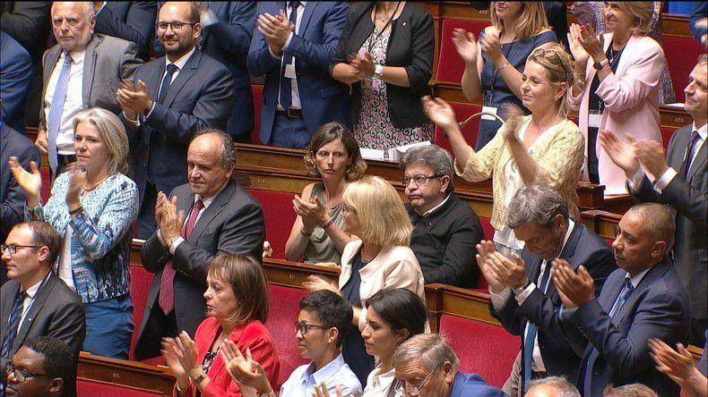 Jean-Luc Mélenchon n'a visiblement pas apprécié le discours de François de Rugy