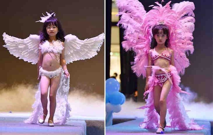Société décadente : Provoquer la pédophilie lors d'un défilé de mode avec des petites filles de 5 ans ?