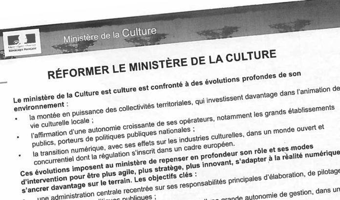 Une fuite dévoile la volonté du gouvernement de s'attaquer à la Culture