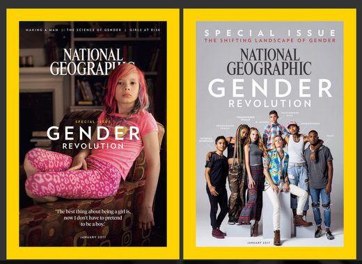 © National Geographic La couverture de la révolution autoproclamée comme historique de janvier 2017 - National Geographic.