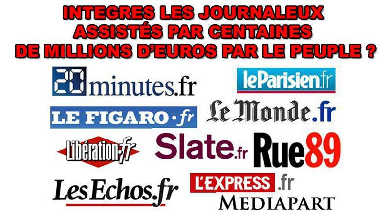 La Presse des Milliardaires Subventionnées à plus de 1,1 milliards d'€/an payés avec votre argent !