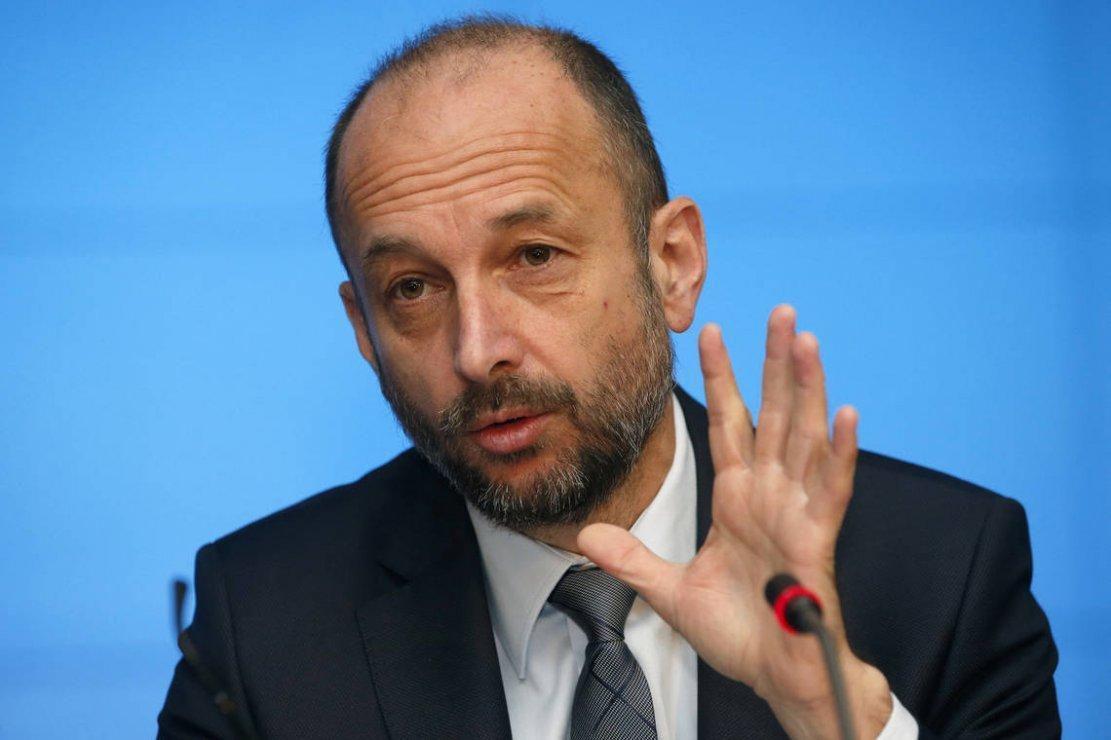 Le président de la Mutualité française, Thierry Beaudet, le 19 avril 2016 à Paris © PATRICK KOVARIK / AFP/Archives