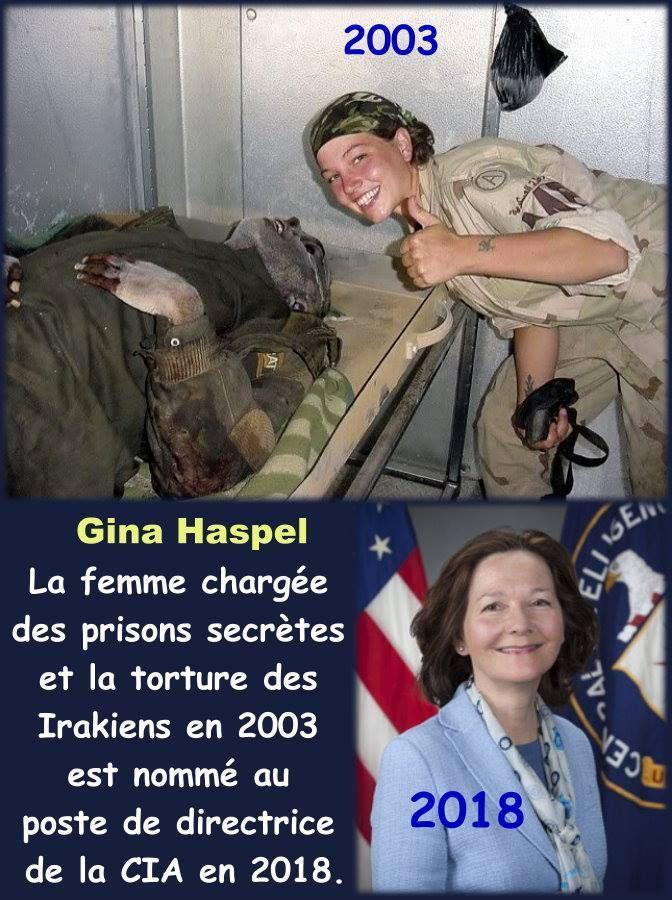 Voilà le vrai visage de l'Amérique. Gina Haspel, accusée de torture et première femme à la tête de la CIA