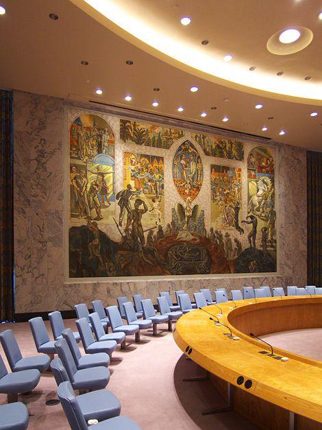 MAJ : L'ÉNIGMATIQUE OEUVRE SATANIQUE À L'ONU
