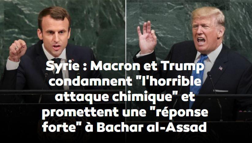 Trump promet des «décisions majeures» sur la Syrie dans les 24 à 48 heures. Macron veut se coordonner avec lui.
