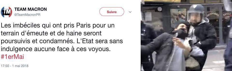 MAJ :Alexandre Benalla a été placé en garde à vue / Un collaborateur d'Emmanuel Macron filmé en train de frapper un manifestant le 1er mai (MAJ: un autre salarié de l'Élysée armé mis à pied)