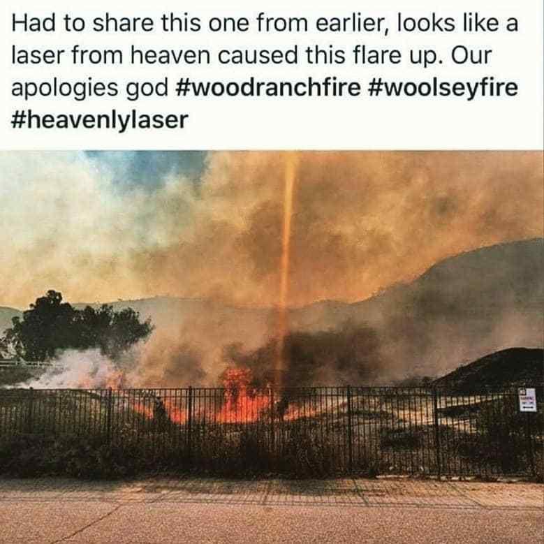 MAJ IMPORTANTE Les photos apocalyptiques des feux en Californie (25 morts - provisoire) + Qu'est ce qui a provoqué ces incroyables explosions de feu =  Un Feu Électromagnétique ???