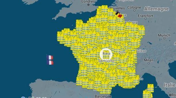Estimation de la participation à 15h30 du syndicat France Police : 520.000 gilets jaunes partout en France métropolitaine