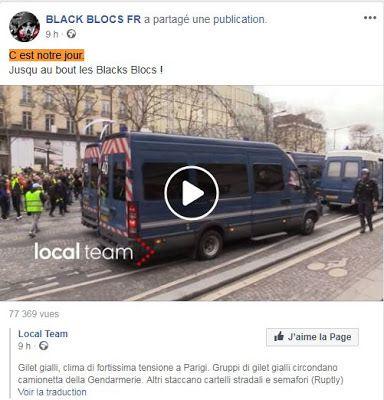 """Les Black Blocs se vantent d'avoir tout saccagé à Paris + """"Gilets jaunes"""" : """"On a 12 compagnies de CRS qui ont été cantonnées et cloisonnées pour sanctuariser l'Elysée et on a laissé les débordements se faire"""", selon l'UNSA Police"""