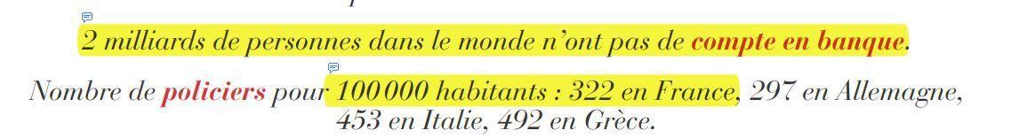 CHIFFRE DU JOUR:...2 milliards d'individus sans compte banque....322 policiers pour 100 000 habitants en France
