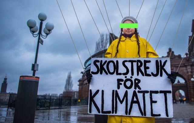 Le voyage «zéro-carbone» de la marionnette Thunberg donnera lieu à six vols en avion pour organiser son périple !