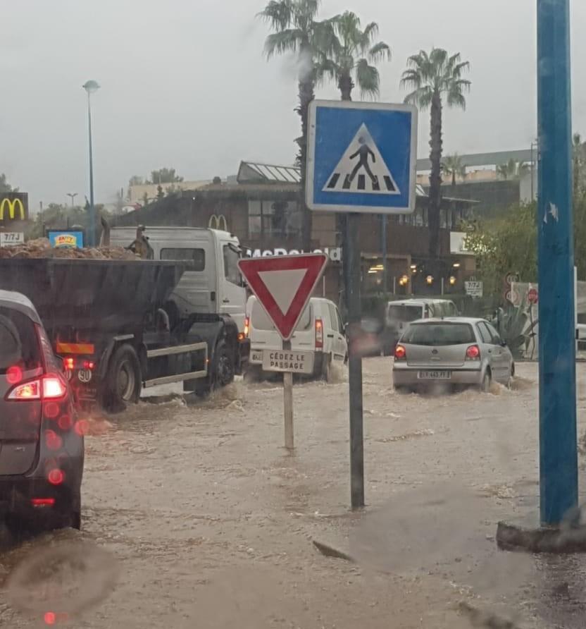 Inondations à Antibes - jeudi 24 octobre 2019 - Nice-Matin