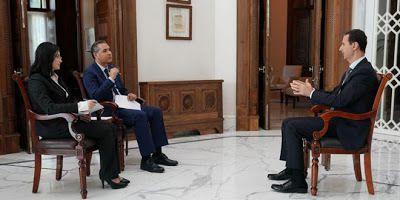 Interview du Président de la République Arabe Syrienne Bachar al-Assad par des médias syriens, le 31 octobre 2019.