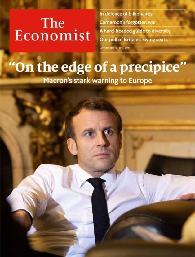 Dans le magazine The Economist, Macron avertit du danger de guerre mondiale et d'effondrement de l'alliance atlantique