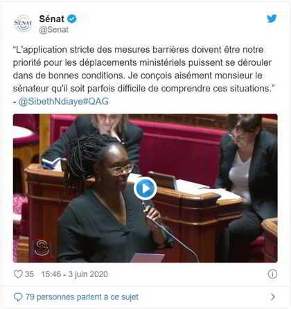 Sibeth Ndiaye provoque un tollé au Sénat, Les Républicains quittent l'hémicycle