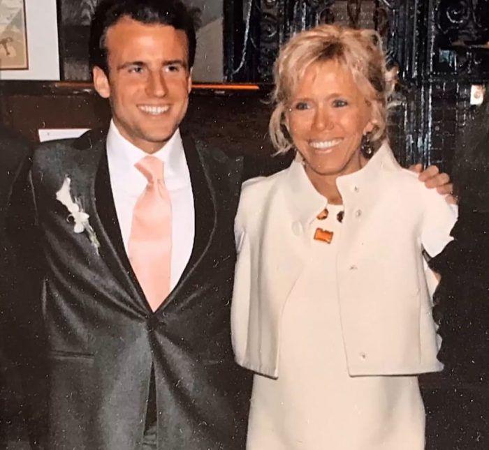 Brigitte et Emmanuel Macron lors de leur mariage