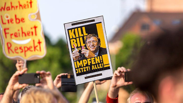 Covid19 – Gigantesque manifestation à Berlin contre la dictature hygiéniste et contre Bill Gates