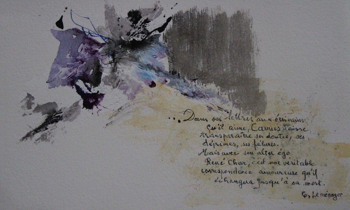 La lueur, extrait de Le poème, la table, la lueur (à la croisée d'Il y a des choses que non de Claude Ber)