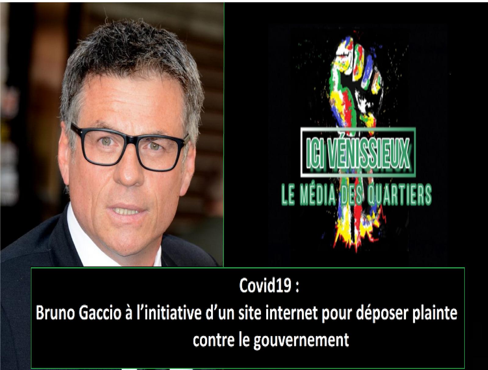 Covid19 : Bruno Gaccio, aidé d'avocats, à l'initiative d'un site internet pour déposer plainte contre le gouvernement