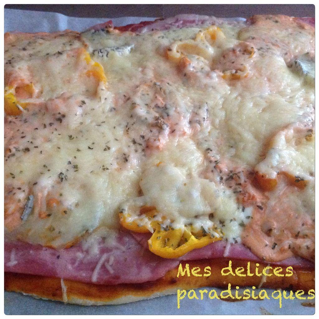 Pizza moelleuse au poivron jaune