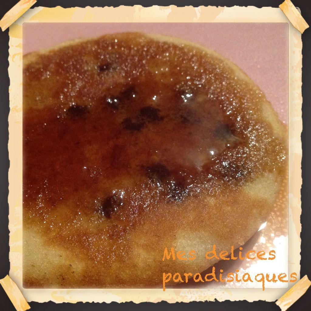 Pancakes pépites de chocolat et sirop d'érable