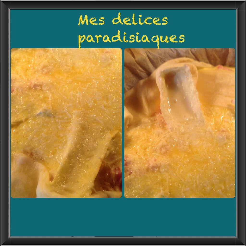 Quiche à la ricotta, lardons et tranches d'ortolan