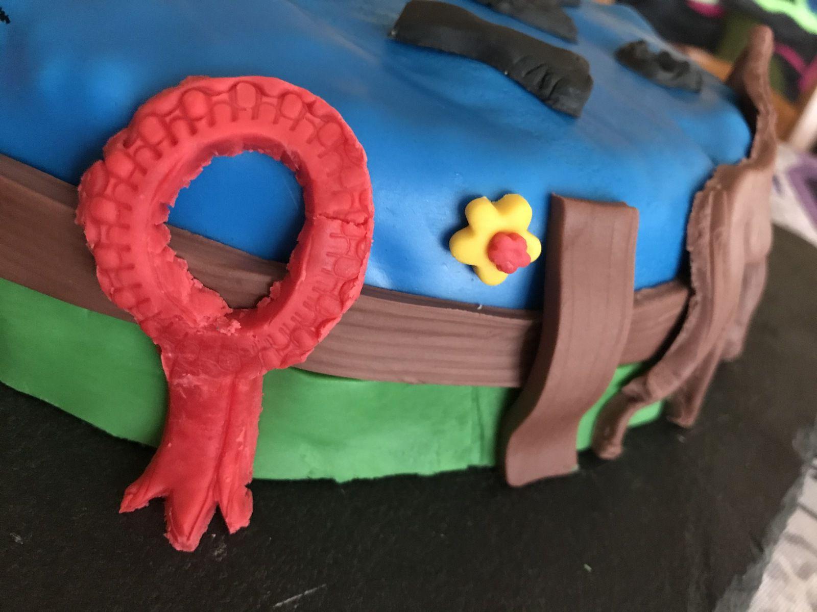 Gâteau 3D thème équitation