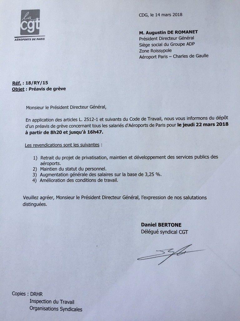 Rappel : Préavis de grève pour le 22 mars 2018