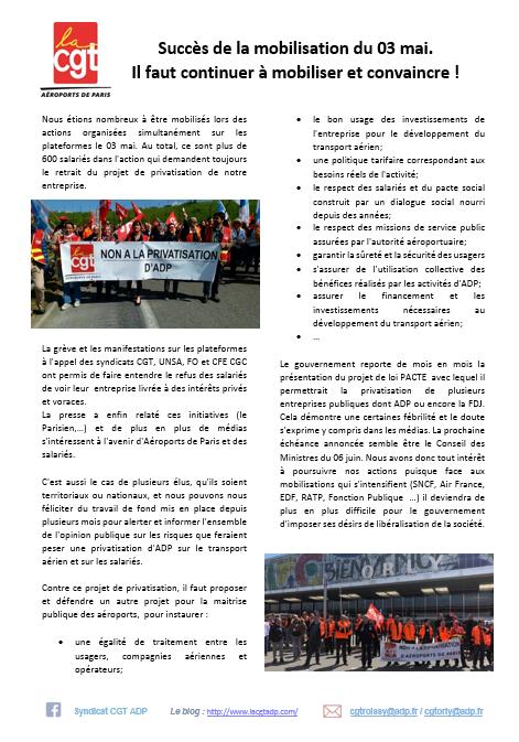 Retour sur les manifestations d 3 mai