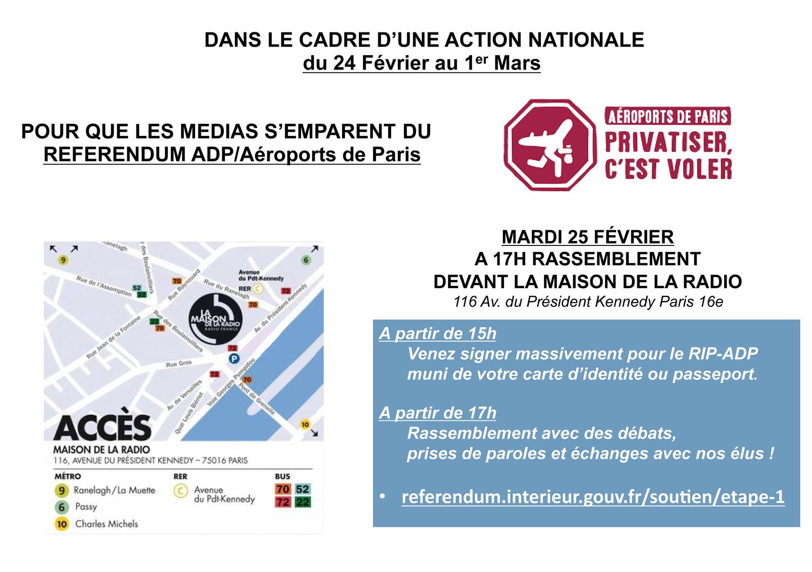Référendum : Tous devant Radio France mardi 17 h