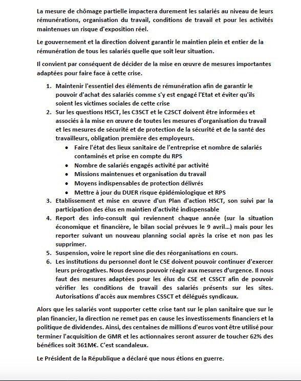Déclaration CGT au CSE du 19/03 sur l'activité partielle