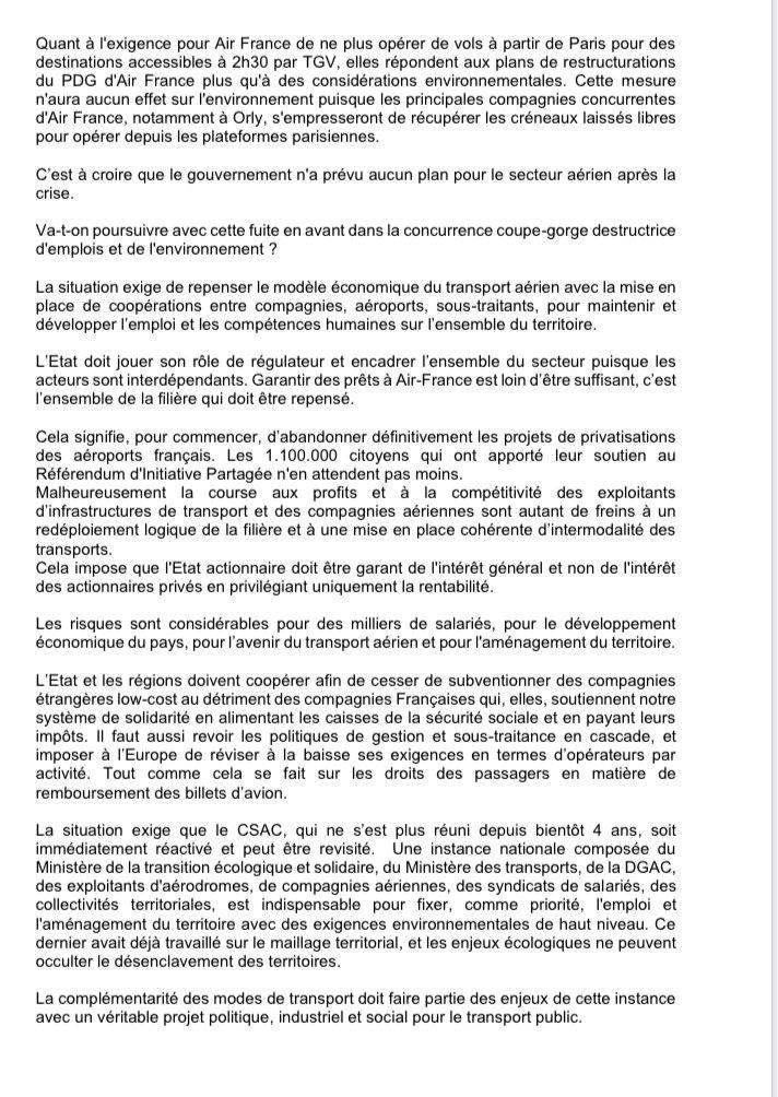 Lettre ouverte de la fédération des transports CGT sur le devenir des CIES