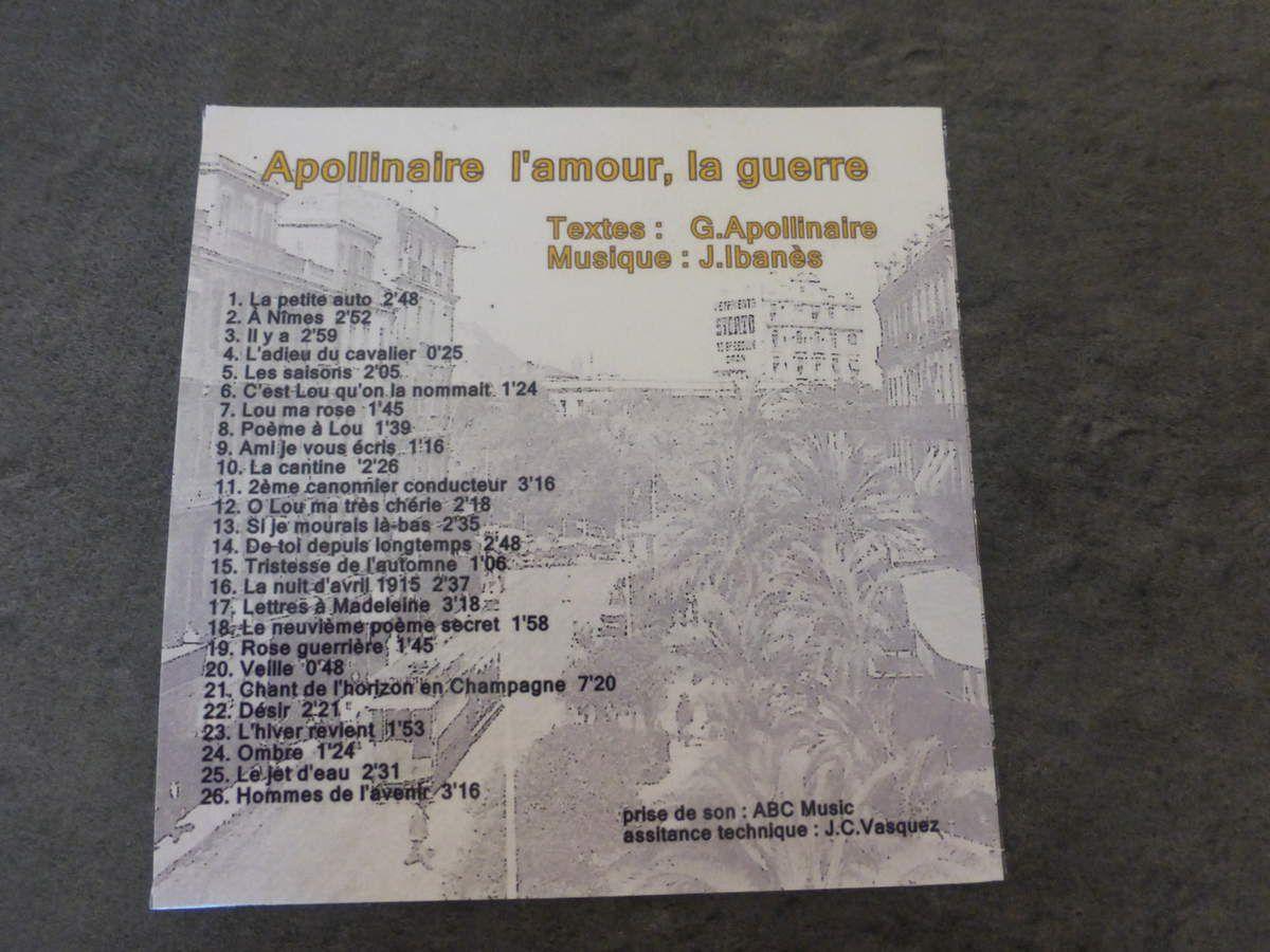 CD: Jacques Ibanès chante Apollinaire.