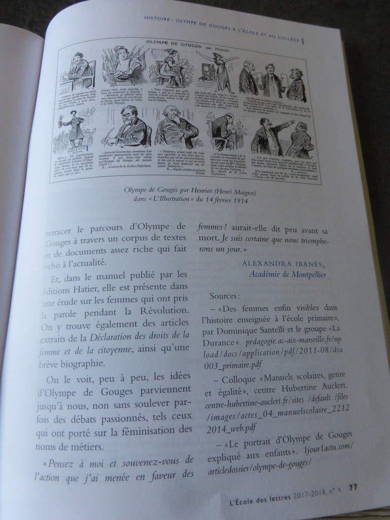 Olympe de Gouges enfin dans les manuels scolaires