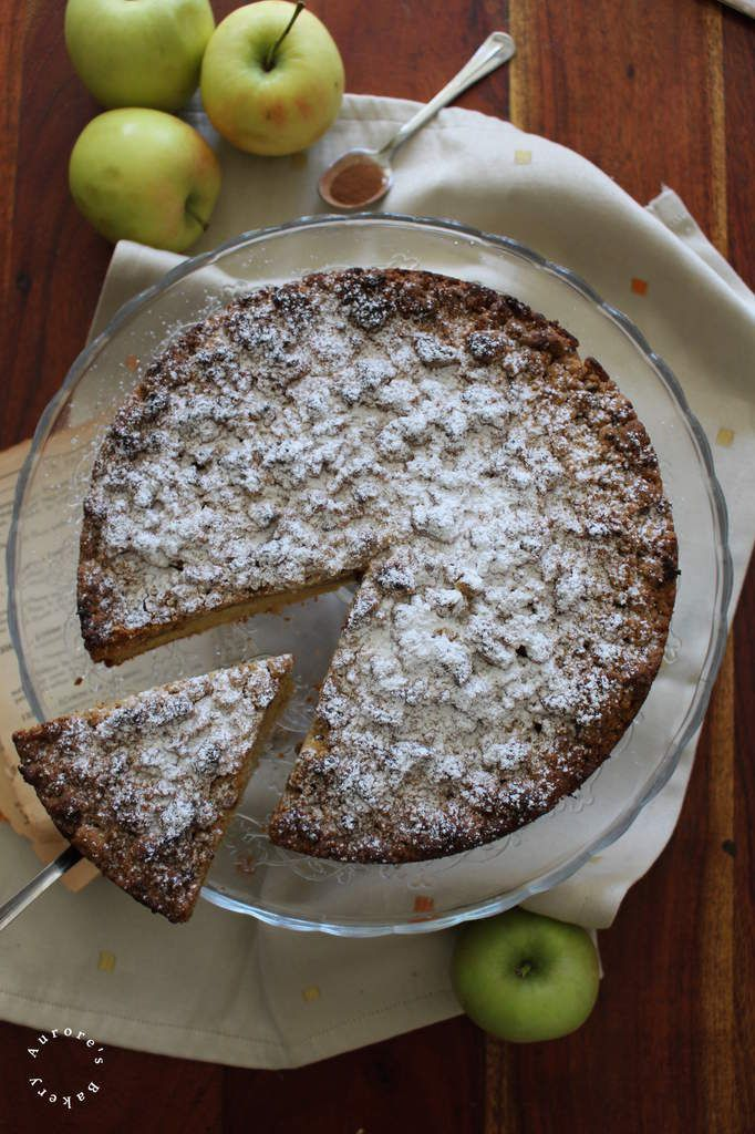 Crumb Cake pommes-cannelle. {Bataille Food #60}.