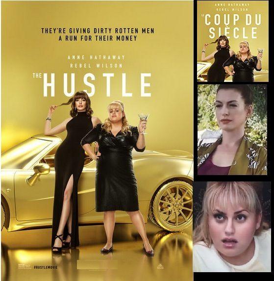 Anne Hathaway, Rebel Wilson, Alex Sharp, Ingrid Oliver, Emma Davies, Dean Norris, Casper Christensen.THE HUSTLE
