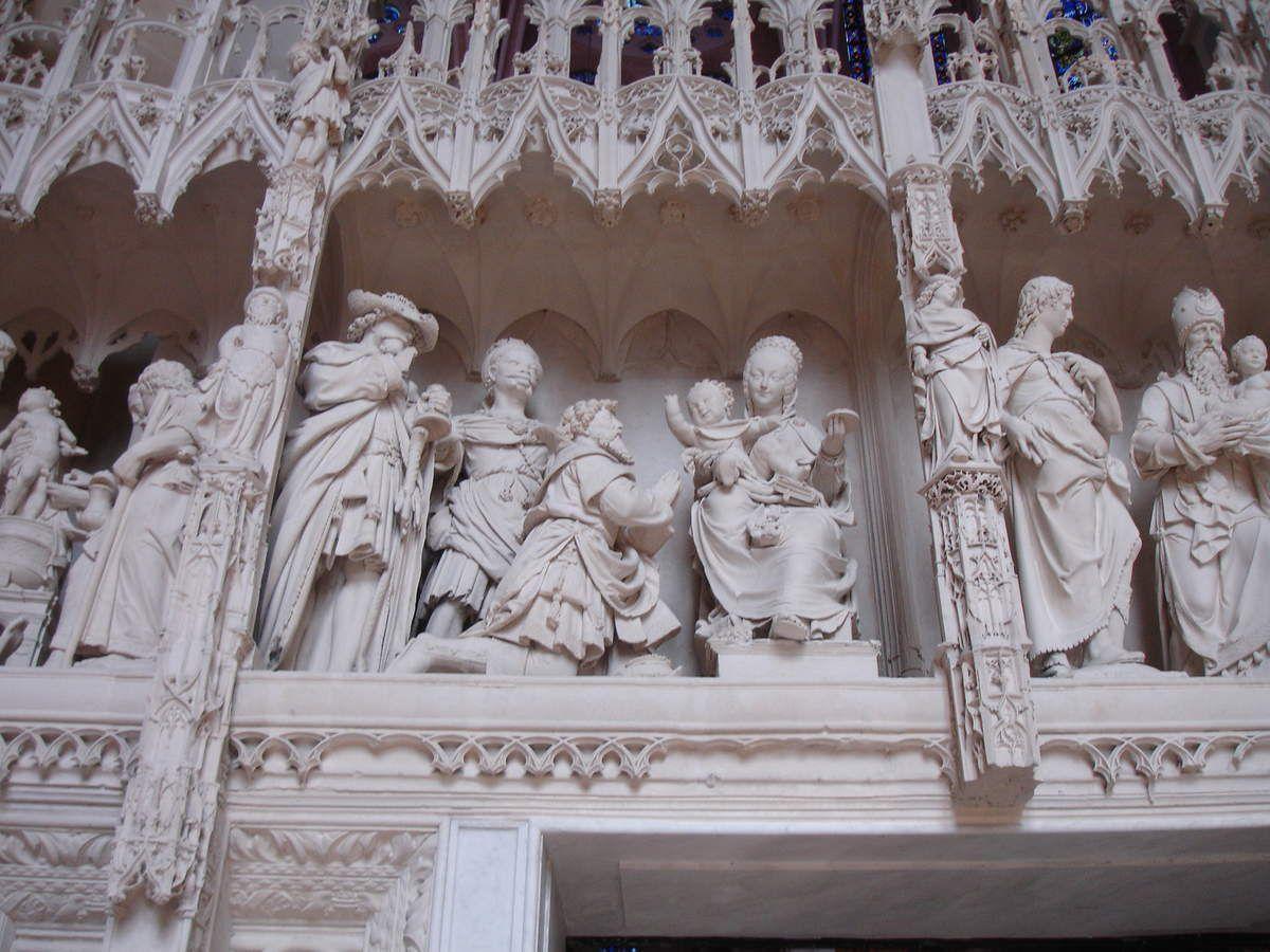 Cathédrale de Chartres. Tour du chœur. La visite des mages (Mt 2, 1-12)