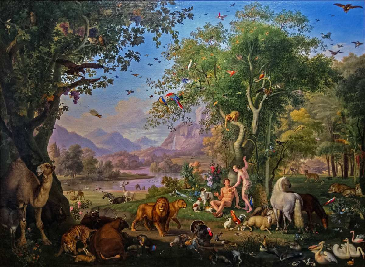 Adam et Eve au paradis terrestre, par Wenzel Peter (1745-1829) (Photo Wikimedia commons)